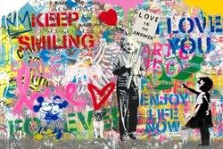 Einstein by Mr Brainwash - Original on Paper sized 36x24 inches. Available from Whitewall Galleries